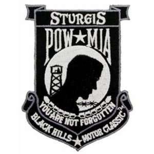 Sturgis POW MIA Black Patch 4 1/2 Patio, Lawn & Garden
