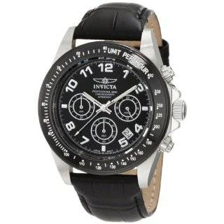 Collection Stainless Steel Black Leather Chronograph Watch Watches