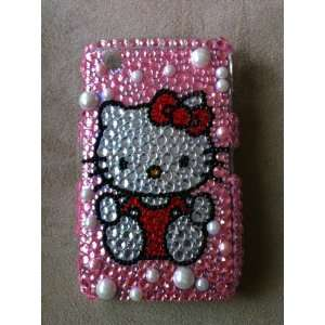 Blackberry Curve 8520 Hello Kitty on Pink Bling Rhinestone