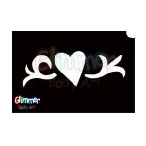 Glimmer Body Art Glitter Tattoos   Heart Vine (10/pack