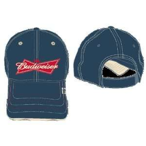 Budweiser King of Beers Navy Khaki Stitch Cap Hat Toys