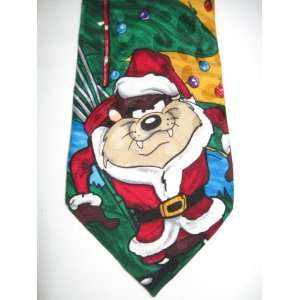 Tasmanian Devil Bugs Bunny Golf Christmas Holiday Tie