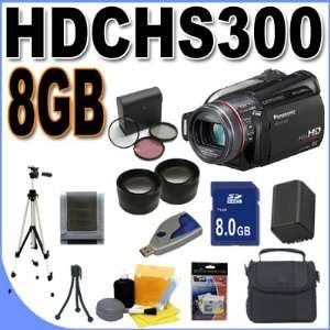 Panasonic HDC HS300 120GB HDD HD Camcorder (Black) BigVALUEInc