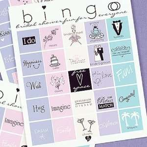 Bridal Shower Bingo Game Sports & Outdoors