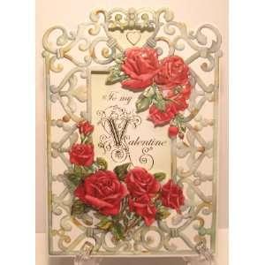 Carol Wilson Valentines Card   Red Roses, Garden Trellis