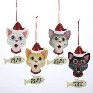 Club Pack of 12 Kitty Cat in Santa Hat Treats? Christmas Pendant