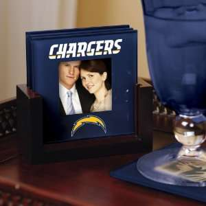 Chargers Art Glass Coaster Set Chargers