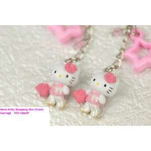 Hello Kitty Pink Star Charm Earrings
