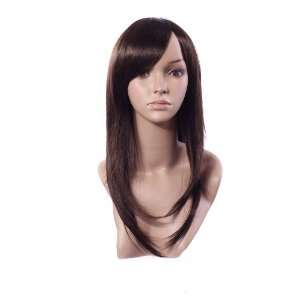 NEW Charming Long Brown Hair Womens Full Wig/wigs for
