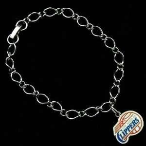 Los Angeles Clippers Ladies Silver Tone Charm Bracelet