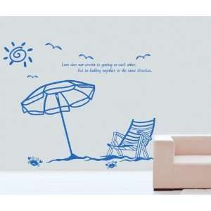 Home Art Decor Vinyl Wallpaper Sticker Sunny Beach