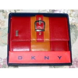 DKNY Ladies Sheep Skin Leather Tri Fold Wallet