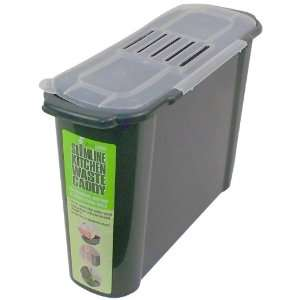K779 Slim Kitchen Recycled Plastic Compost Caddy Patio, Lawn & Garden