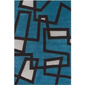 Garza Hand Tufted Contemporary Blue Rug   BEN3005: Home & Kitchen
