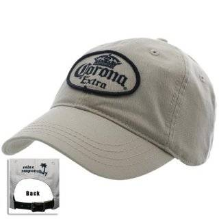Corona Beer Alcohol Cerveza Hat   Straw Patch Logo Brown Adjustable
