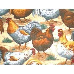 New Window Curtain Valance made from Country Chicken Hen