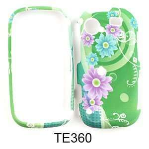 R630 Messager Touch Pink and Blue Flowers on Green Hard Case,Cover