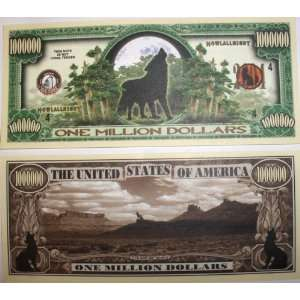 Set of 10 Bills Wolf Million Dollar Bill Toys & Games