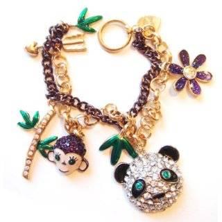 Betsey Johnson Lovely Leopard Heart Carabiner Necklace Jewelry