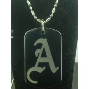 CUSTOMISED INTIAL `A DOG TAG PENDANT NECKLACE Everything Else
