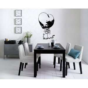 Mouse Cute Heart for Lovers Wall Decor Vinyl Decal Sticker