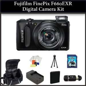 Digital Camera(Black), Extended Life Replacement Battery, Rapid Travel