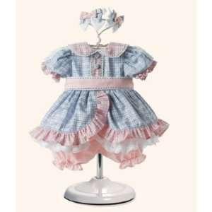 Adora 2009 Doll Outfit   Blue/Pink Checks Dress : Toys & Games