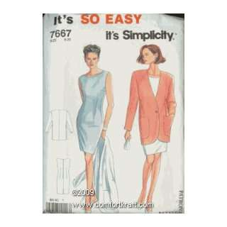 Dress, Its So Easy Its Simplicity 7667 Simplicity Pattern Co Inc