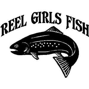 Reel Girls Fish Vinyl Car Decal, Fishing