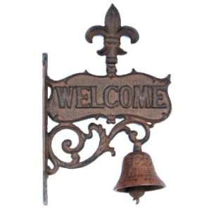 Fl de lis Cast Iron Bell Home & Kitchen
