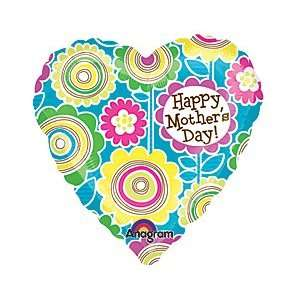 Mother Day Flower Heart 4 Air Filled Cup & Stick Included