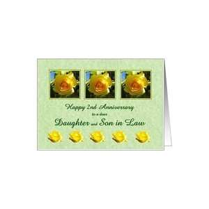 Happy 2nd Anniversary Daughter and Son in Law   Yellow Rose Flowers