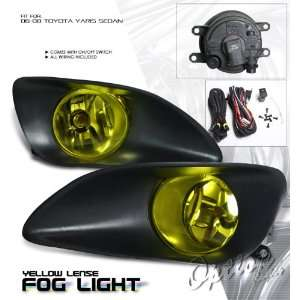 2008 TOYOTA YARIS SEDAN 4DR JDM YELLOW FOG LIGHTS LAMP KIT W/SWITCH