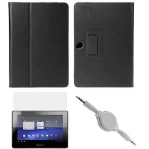 GTMax Black Durable PU Texture Folio Leather Protector Cover Case With