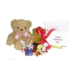 Satin Pink or Blue Bow, Box of Chocolates, and Gift Note Toys & Games