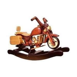Wooden Rocking Saddle Bag Motorcycle Toys & Games