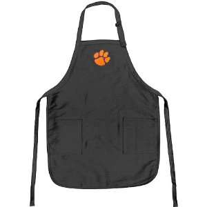 Clemson Tigers Black Apron with Paw Logo Embroidered