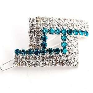Silver Plt Crystal Cz Hair Pin Clip (Ac31)