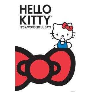 Hello Kitty Bike Scene, Cartoon Poster Print, 24 by 36