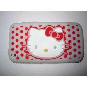 Phone 3G 3GS light weight Hello Kitty Silicone Case / Skin White Cell