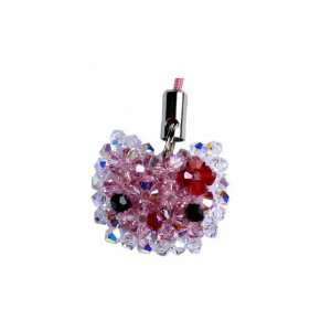 Swarovski Crystal Cell Phone Charm Hello Kitty Pink