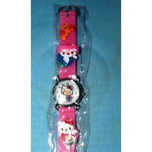 1 Pc HELLO KITTY 3D Wrist Watch COLOR PINK ~ Great Gift