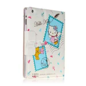 HELLO KITTY STAMPS LEATHER CASE & STAND FOR iPAD 2 Computers