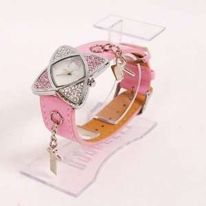 Hello Kitty Fine Diamante Watch Wristwatch Pink