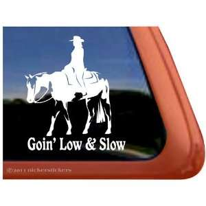 Slow Western Pleasure Paint Horse Trailer Vinyl Window Decal Sticker
