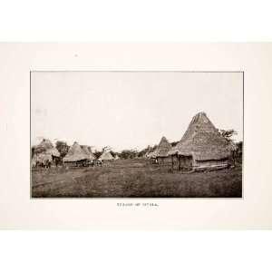 1926 Print Village Divala Panama Indigenous Huts Houses Town Land