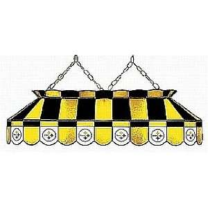 NFL Pittsburgh Steelers 40 Inch Glass Pool Table Lamp