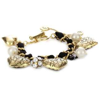Lovely Leopard Heart Ribbon Toggle Bracelet Jewelry