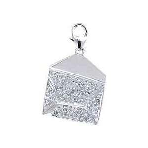 Love Letter, 14K White Gold Diamond Charm Jewelry