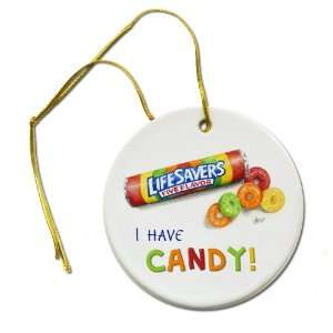 ART LIFE SAVERS Candy Original Painting 2 7/8 inch Hanging